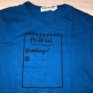 NWOT - Rare Topman To-Do List - Nothing Tee